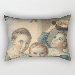 Thomas Badger - Portrait of Three Boys Rectangular Pillow