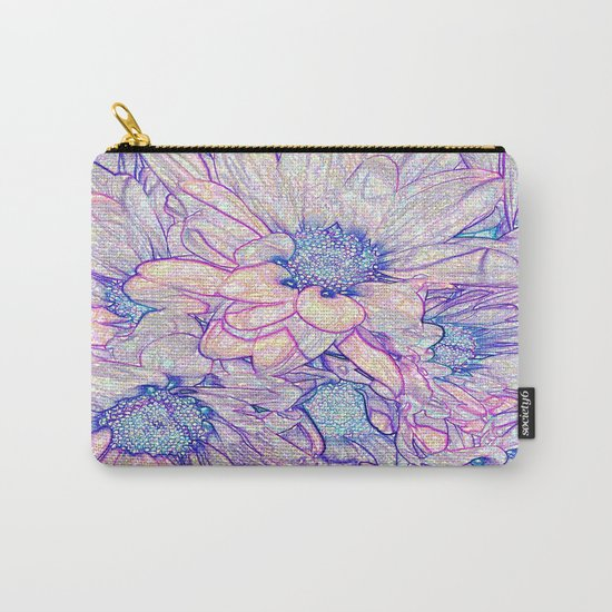 Colorful Floral Sketch Abstract Carry-All Pouch