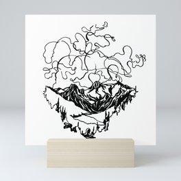 Smoke Show :: Single Line Mini Art Print
