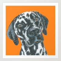 Dalmatian, printed from an original painting by Jiri Bures Art Print