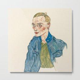 "Egon Schiele ""One-Year Volunteer Lance-Corporal"" Metal Print"