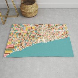 Chicago Map Art Rug