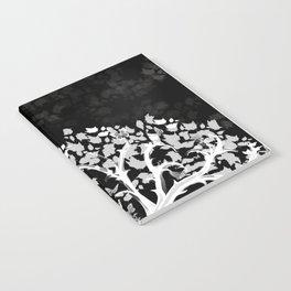 The Zen Tree - White on Black Notebook