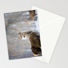Red Deer in Snowfall Stationery Cards