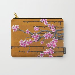 October Cherry Blossoms Carry-All Pouch