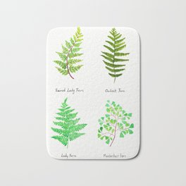 fern collection watercolor Bath Mat