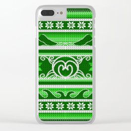 Green Nordic Spring Clear iPhone Case
