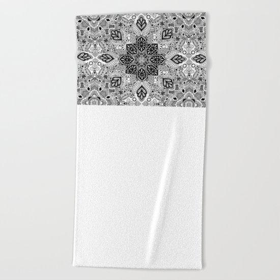 Gypsy Lace in Monochrome Beach Towel
