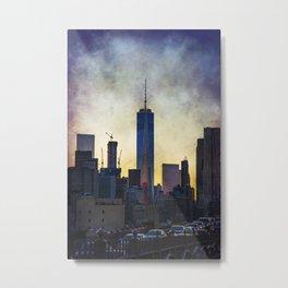 New York City at Sunset Metal Print