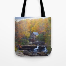 Glade Creek Mill in Autumn Tote Bag