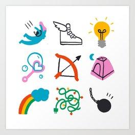 Sagittarius Emoji Art Print