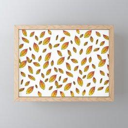 Autumn Leaves Framed Mini Art Print