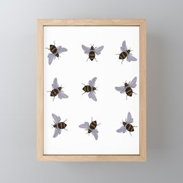 bees Framed Mini Art Print