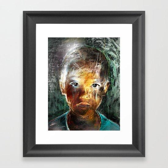 A Boy Framed Art Print