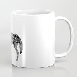 Henna-Inspired Wolf Coffee Mug