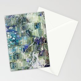 Storm In A Tea Cup Mixed Media Painting Stationery Cards