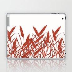 Stylized wheat ears on a white background. Laptop & iPad Skin