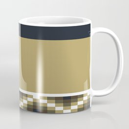 Block Wave Illustration 2 Thick Bold Horizontal Lines Digital Artwork Coffee Mug