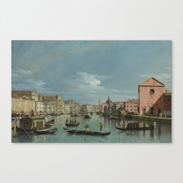 Venice: The Grand Canal facing Santa Croce by Bernardo Bellotto Canvas Print
