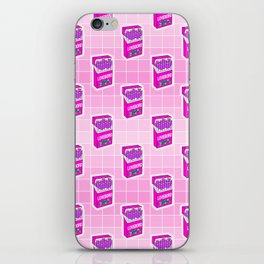 Loveboro cigarette packs pattern / girly stickers / pink grid iPhone Skin