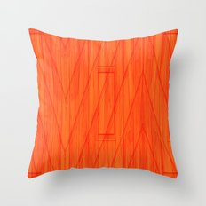 Geometry orange Throw Pillow