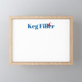 Top Keg Filler Framed Mini Art Print