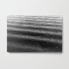 Waves of Water (B&W) Metal Print