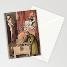 Hieronymus Bosch - Death and the Usurer Stationery Cards