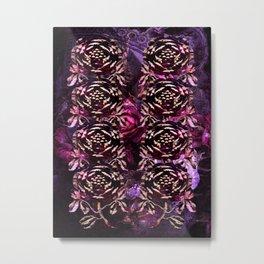 Roses In Stone Metal Print