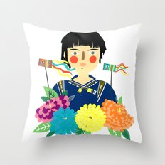 Flower Kite Throw Pillow