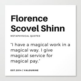 25   | Florence Scovel Shinn Quotes | 200126 Canvas Print