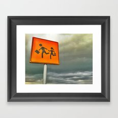 Run baby run!!! Framed Art Print