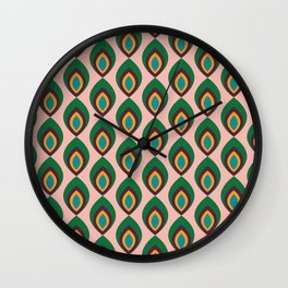 Peacock feather pink #homedecor #midcenturydecor Wall Clock