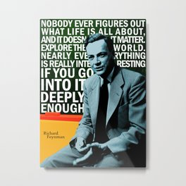 Richard Feynman Quote 1 Metal Print