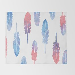 Feather forest Throw Blanket