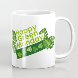 Happy leaves deco - Green Monday Coffee Mug