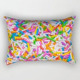 Dessert Rainbow Sprinkles Pattern Rectangular Pillow