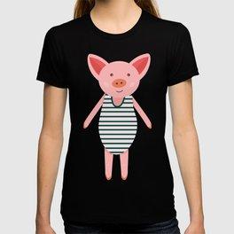 Pig in bikini T-shirt