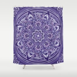 Great Purple Mandala Shower Curtain