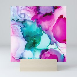 Fairytale Abstract, Alcohol Ink Abstract Painting, Colorful Abst Mini Art Print
