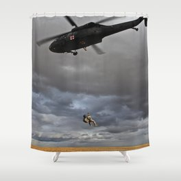 Suspended Between Worlds Shower Curtain