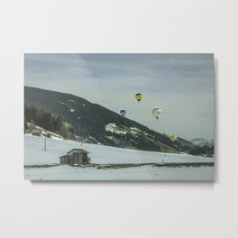 Mongolfiere in volo Metal Print