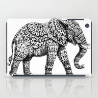 ornate elephant iPad Cases featuring Ornate Elephant 3.0 by BIOWORKZ