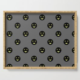 Dead Smiley Pattern Serving Tray