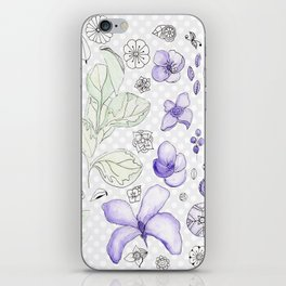 Violet Watercolor iPhone Skin