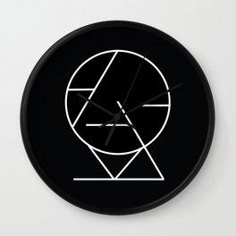 Geometric Minimalism Inverted Print Wall Clock