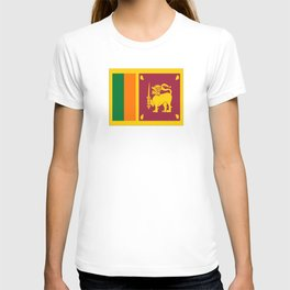 Flag of sri Lanka -ceylon,India, Asia,Sinhalese, Tamil,Pali,Buddhist,hindouist,Colombo,Moratuwa,tea T-shirt