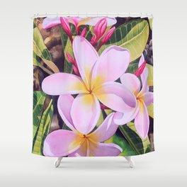 Hawaiian Plumerias Shower Curtain