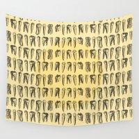 teeth Wall Tapestries featuring Teeth Pattern by DIVIDUS