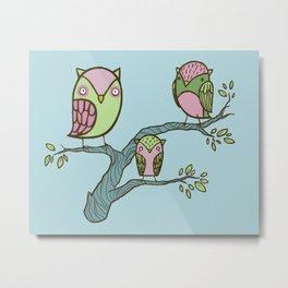 little owlies Metal Print